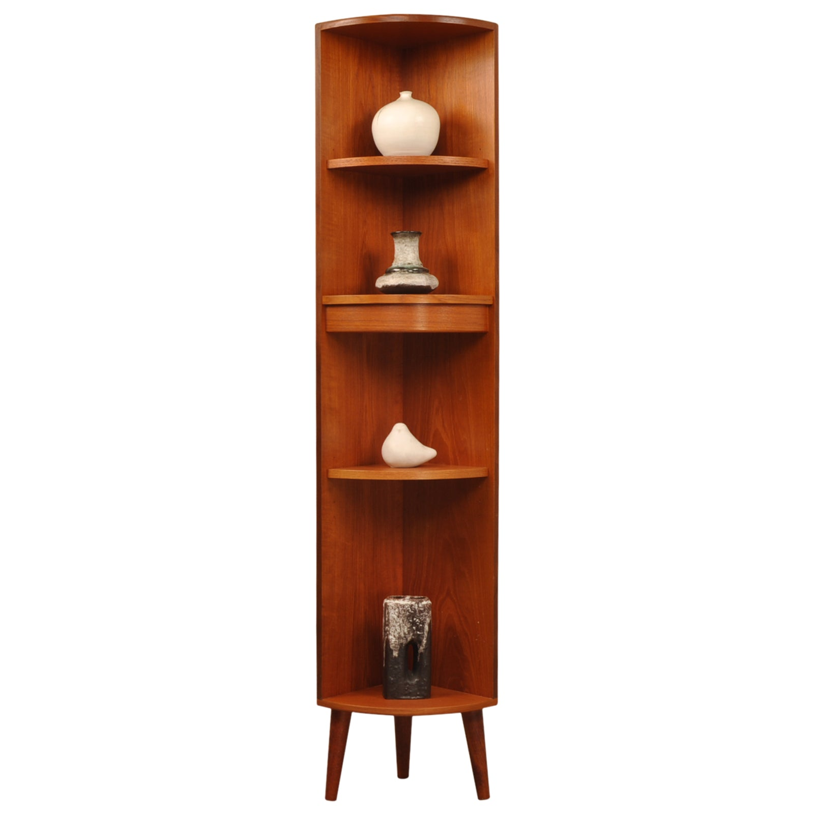 G Plan Fresco Tall Corner Display Unit / Plantstand in teak