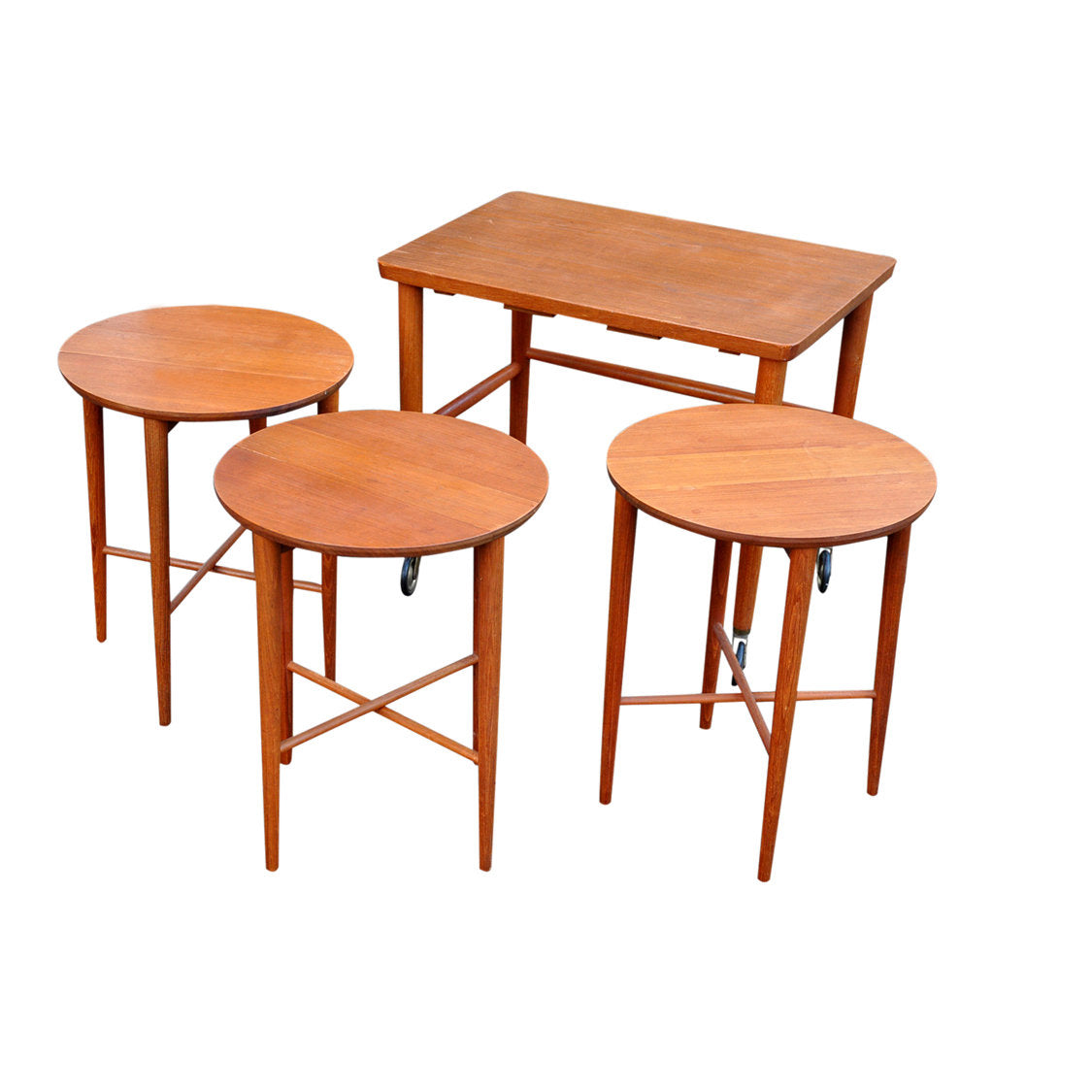 Danish Gateleg Nesting Tables after Carlo Jensen - AndersBrowne Mid Century Furniture