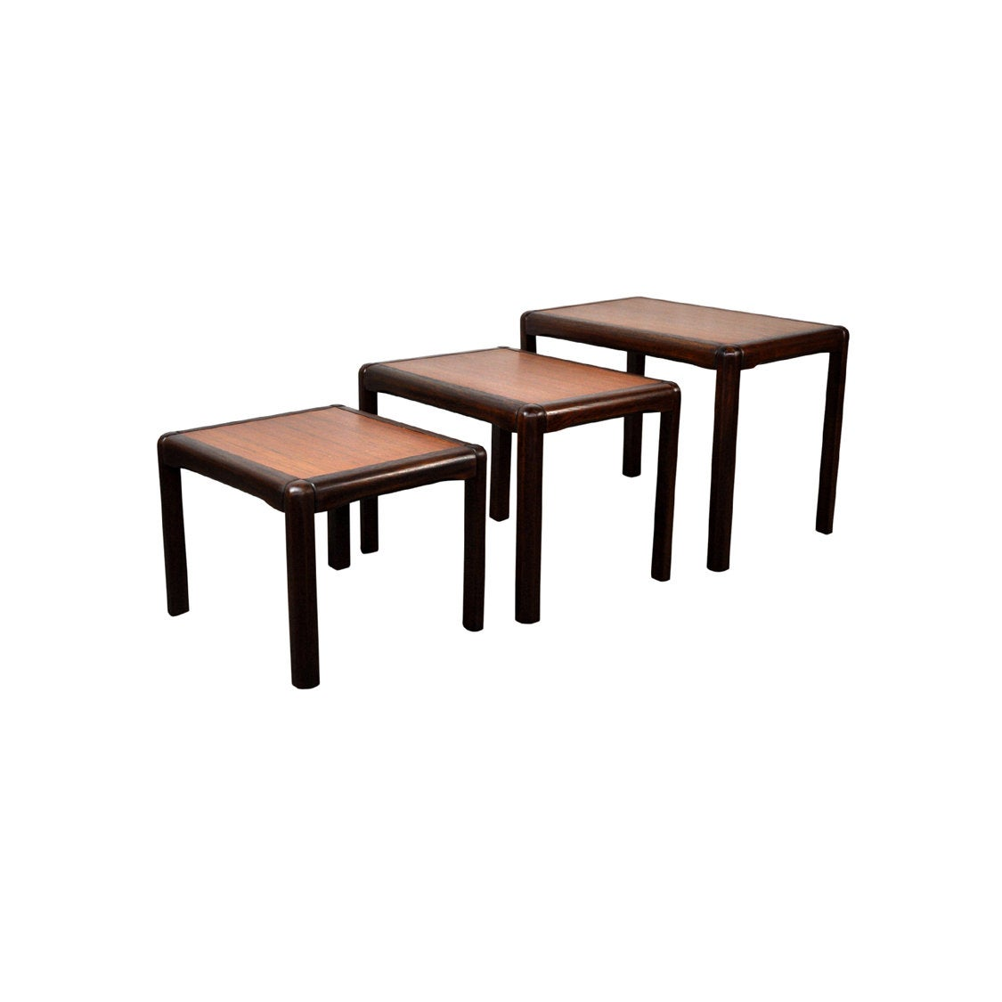 Danish Teak Nesting Tables - AndersBrowne Mid Century Furniture
