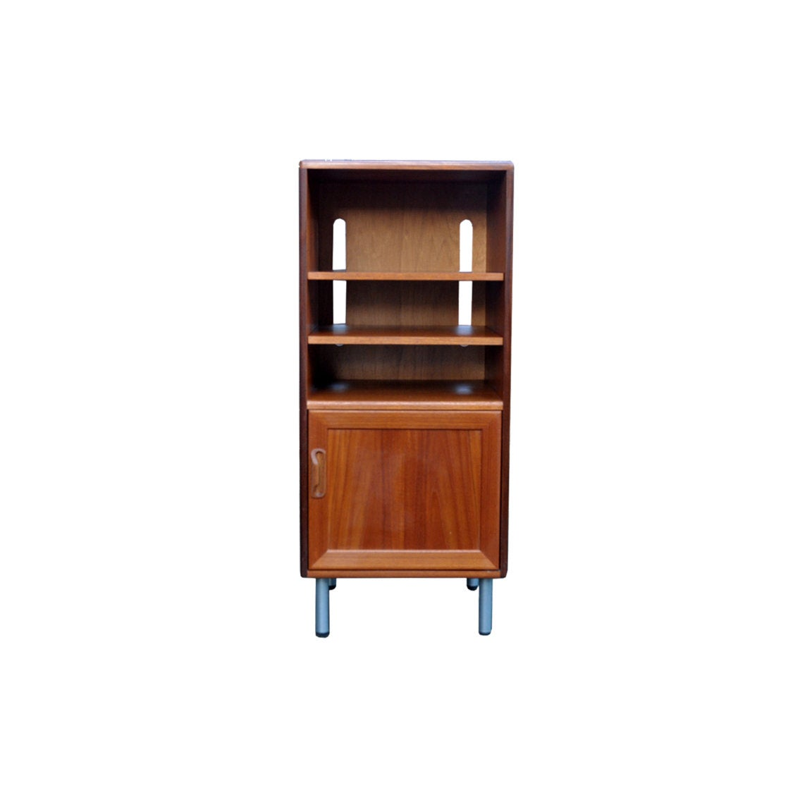 G Plan Fresco Hi-Fi Cabinet with Vinyl Storage - AndersBrowne Mid Century Furniture