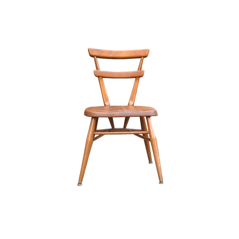 Ercol red dot stacking chair for children AndersBrowne Mid Century furniture