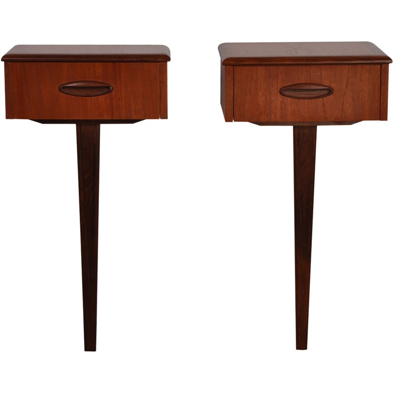 Mid Century 1960's Jentique floating tables / nightstands. AndersBrowne Ltd.