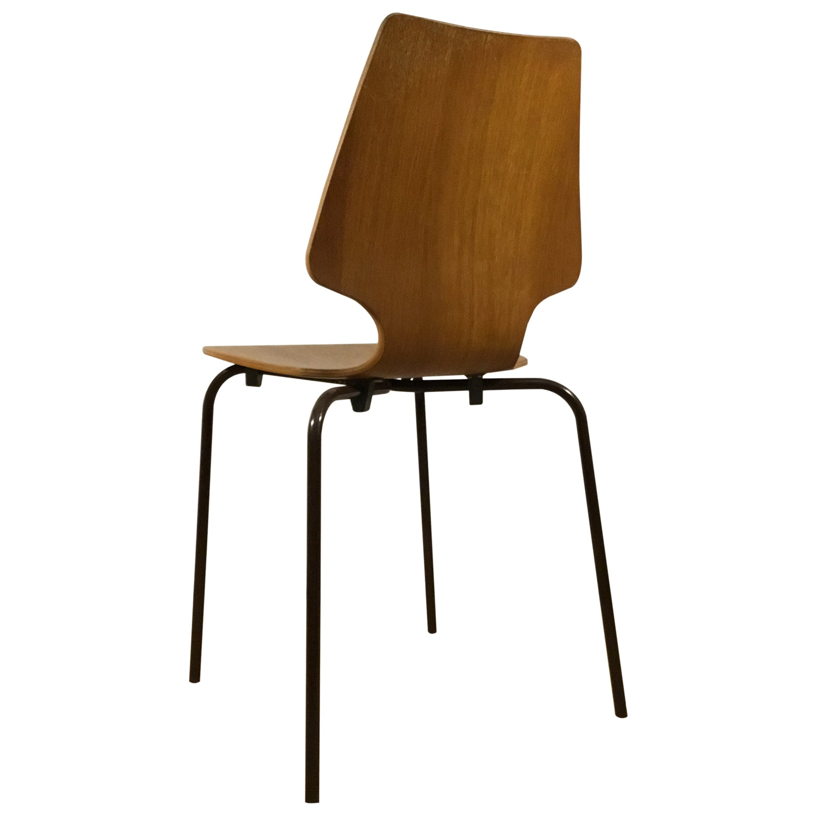 Vintage Danish bent plywood stacking chair, Mid Century. 1970/80s