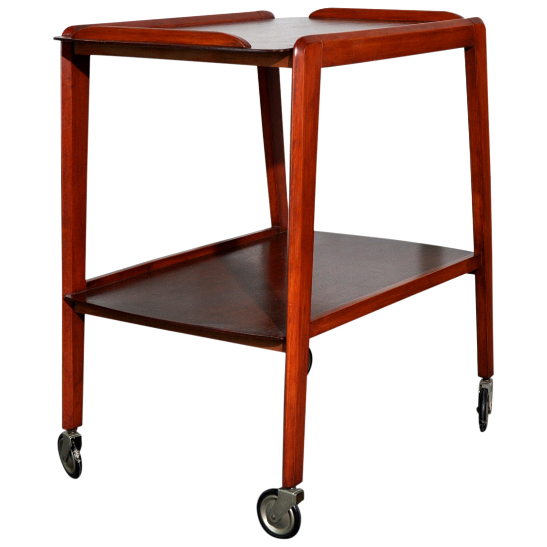 RESERVED. 1960s Remploy bar cart and serving trolley
