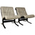 Pair of Ingmar Relling Siesta Bentwood and leather chairs Westnofa, 1970/80s, in grey