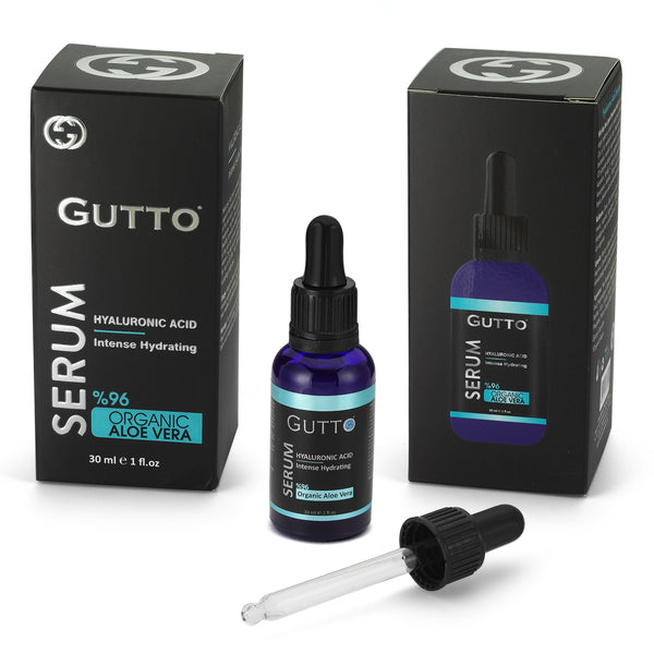 Serum cu Acid Hyaluronic Gutto (96% extract de Aloe Vera) 30ml