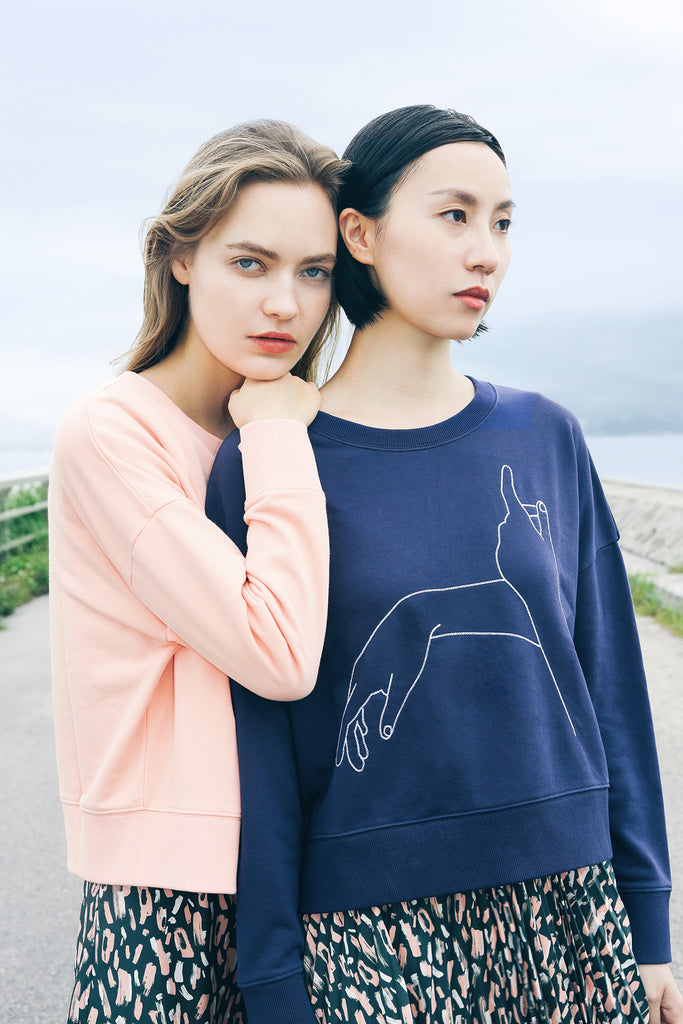 futureclassics merce sweatshirt salmon