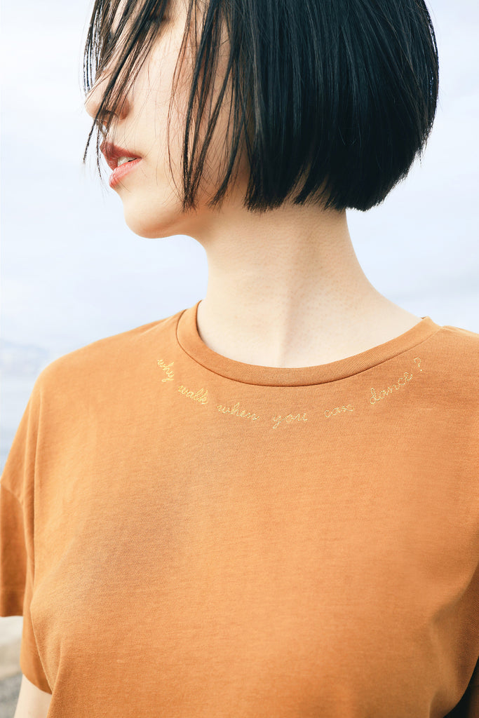 futureclassics misty boxy tee brown