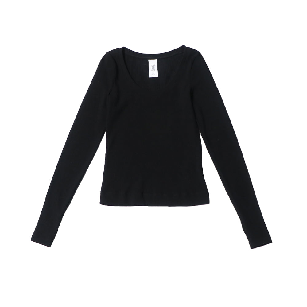futureclassics anna rib stretch jersey black