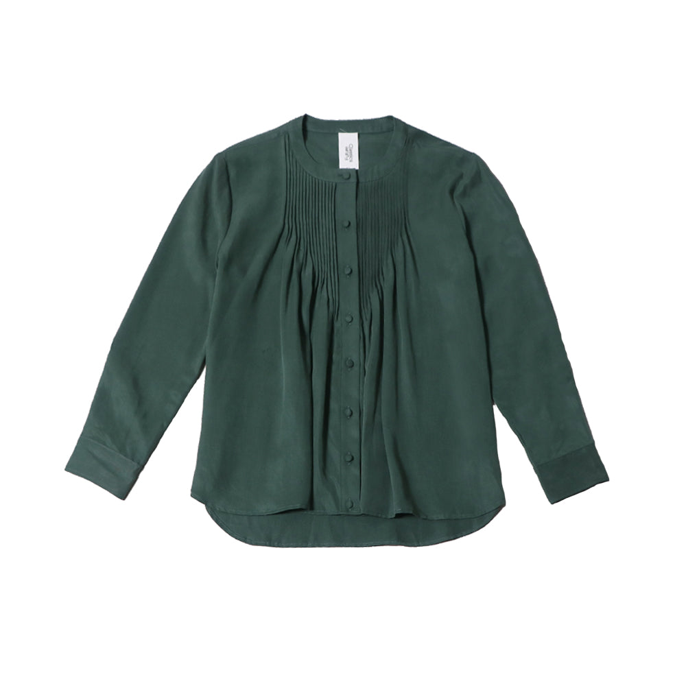futureclassics aurelie front pleat blouse garden topiary