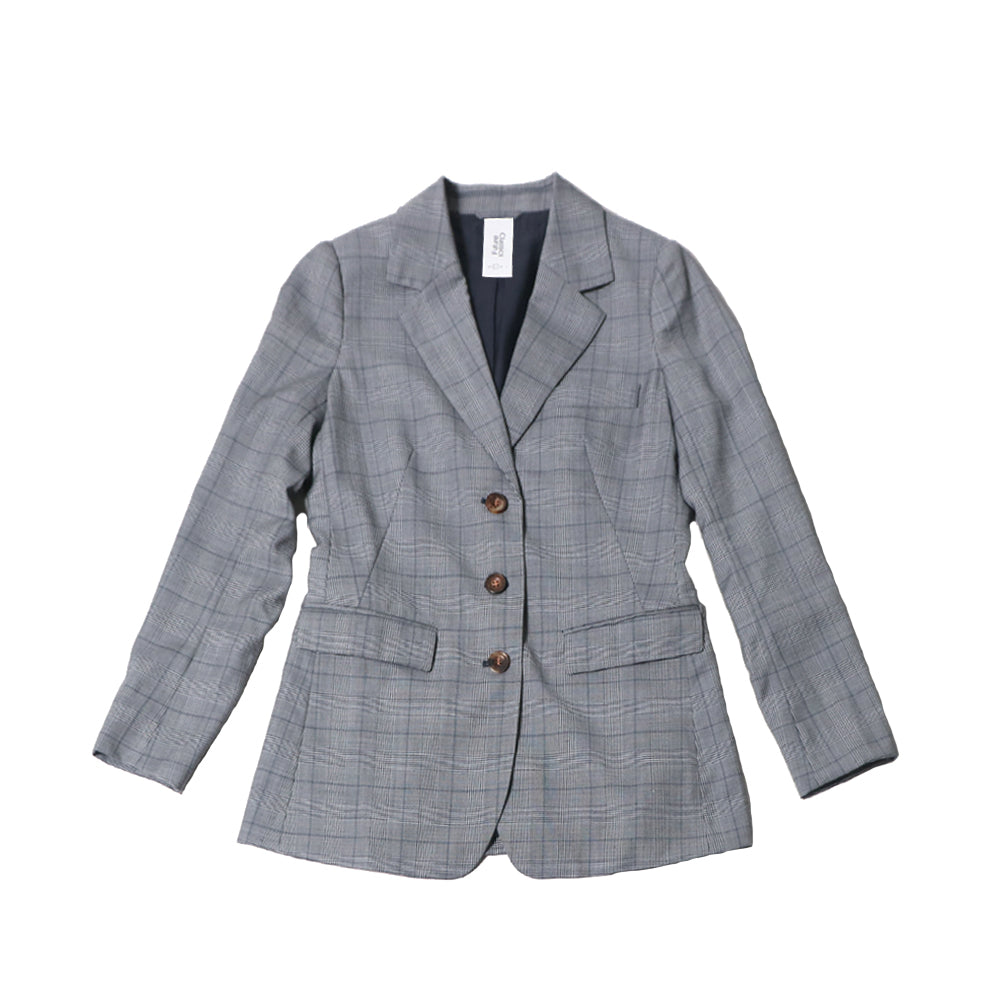 futureclassics claude blazer wool check