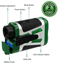 Load image into Gallery viewer, Anyork Golf Rangefinder, Laser Range Finder,Flock-Lock with Vibration and Slope Switch On/Off, Continuous Scan, Tournament Legal Rangefinder for Professional Golfers