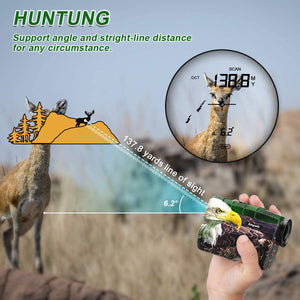 Anyork Rechargeable 1000 Yards Hunting Range Finder,Water Resistant Wild Coma Rangefinder for Shooting, 6X Magnification Laser Rangefinder with Scan, Gift Package