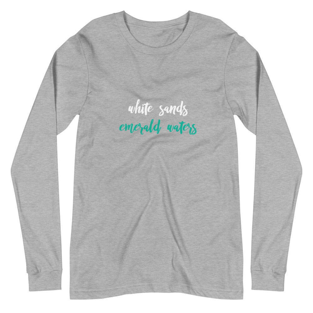 White Sands // Emerald Waters Long Sleeve Tee