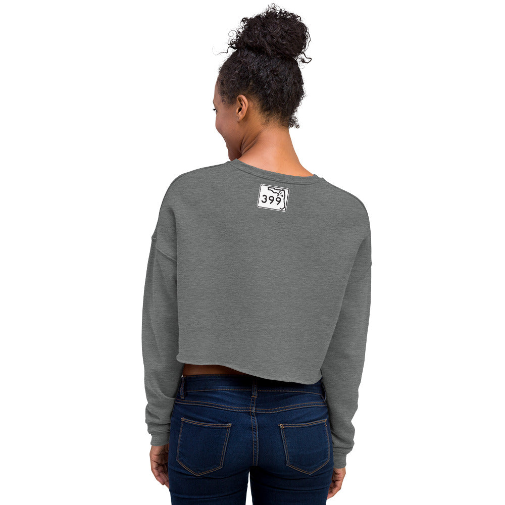 sun. waves. freedom. Cropped Sweatshirt