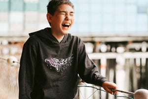 Kids Charcoal Humpback Pullover