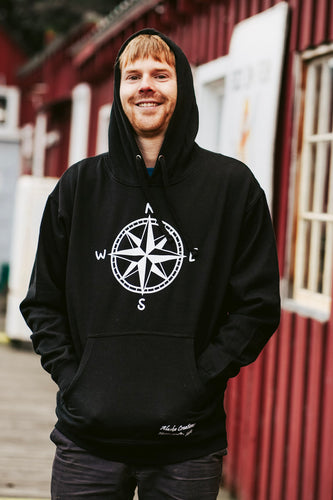 Men Black Compass Pullover