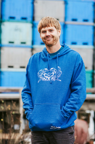 Men Royal Blue Crab Pullover