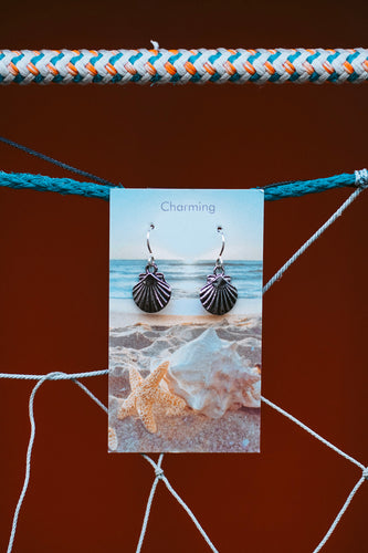 Charming Sterling Silver Shell Earrings