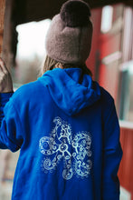 Load image into Gallery viewer, Women Royal Octopus Zip-Up