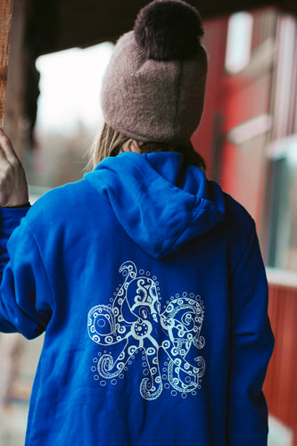 Women Royal Octopus Zip-Up