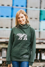 Load image into Gallery viewer, Women Green Bear Pullover