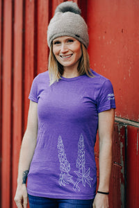 Women Purple Lupine Tee