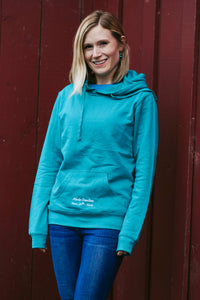Women Teal Jellyfish Pullover