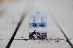 Adrift Sterling Silver Blueberry Large Bead Earring