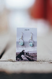 Adrift Sterling Silver Ice Large Bead Earring
