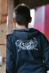 Kids Navy Crab Zip-Up