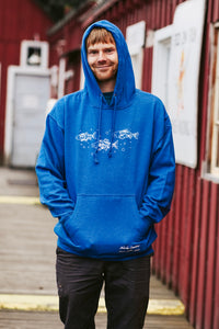 Men Royal Blue Salmon Pullover