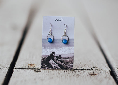 Adrift Sterling Silver Blueberry Small Bead Earring