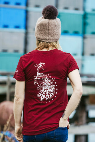 Women Scarlet Peacock Tee
