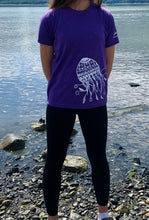 Load image into Gallery viewer, Kids Purple Jellyfish T-shirt
