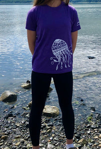 Kids Purple Jellyfish T-shirt