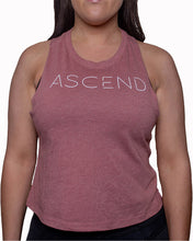 Load image into Gallery viewer, Original Ascend-Mauve Women's Racer Back Crop Tank