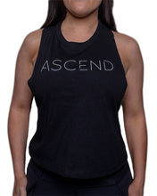 Load image into Gallery viewer, Original Ascend-Black Women's Racer Back Crop Tank