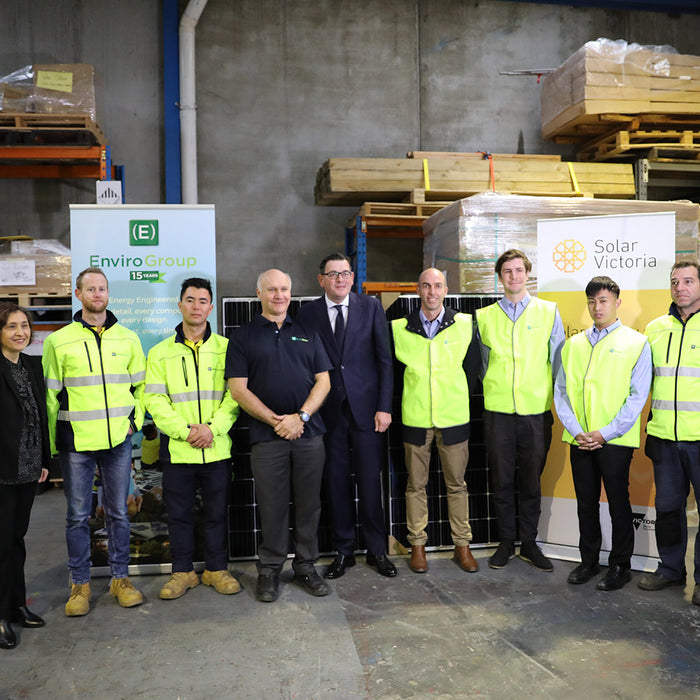 ENVIROGROUP AND VICTORIAN PREMIER ANNOUNCE THE NEW SOLAR HOMES REBATE PROGRAM