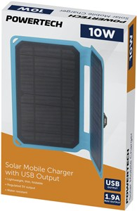 10W Solar Mobile Charger with USB Output with 1M Lead