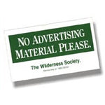 No Advertising Material