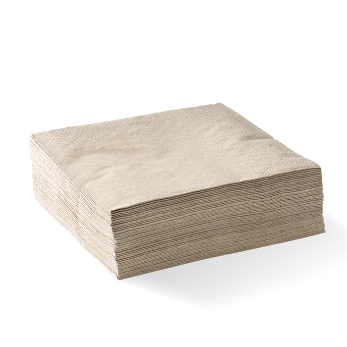 Brown Recycled napkin pack of 100