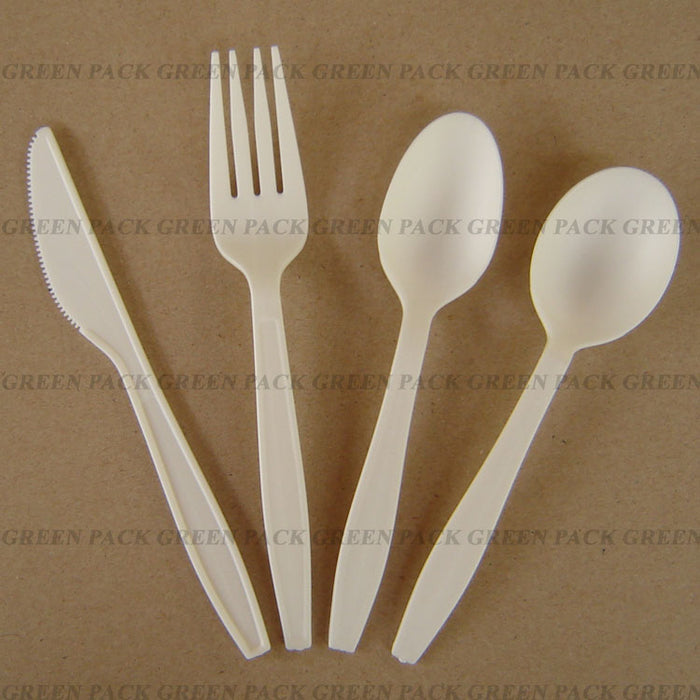 CPLA Knives, Forks and Spoons - Packs of 50