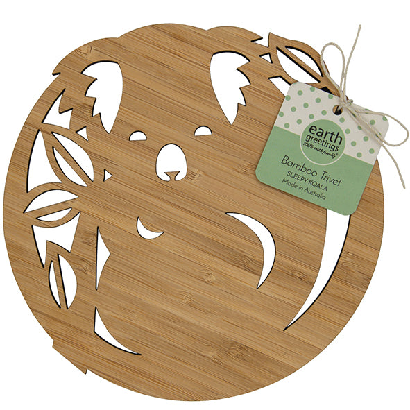 Earth Greetings Bamboo Trivet