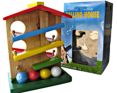 QToys Wooden Ball Rolling House