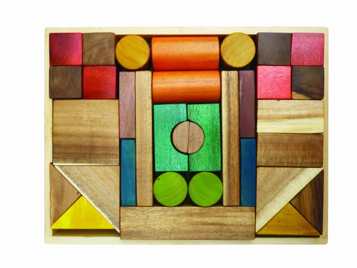 QToys Colour Wooden Blocks