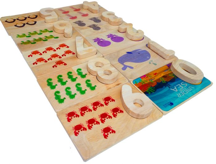 QToys Sea Life Number Matching Set