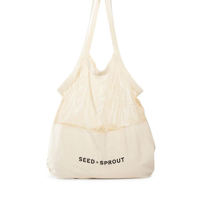 Seed and Sprout Mixed Mesh Tote