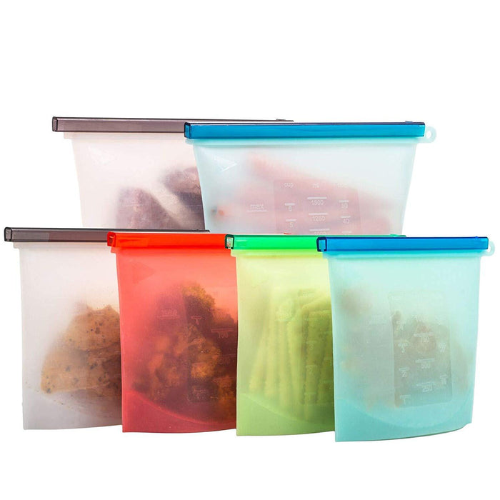Silicone Resealable Pouches