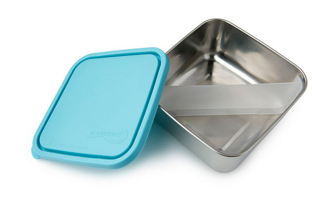 U-Konserve Stainless Steel Bento Style Divided Square Lunchbox